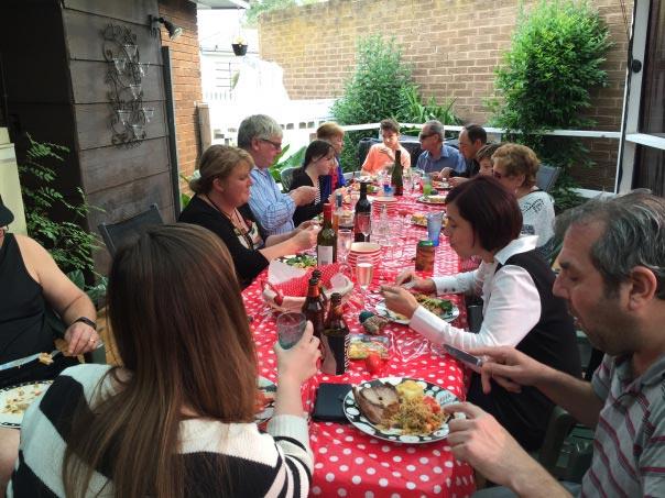 Ballagási családi ebéd