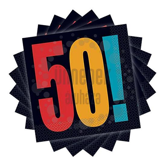 Számos szalvéta 50. szülinapra