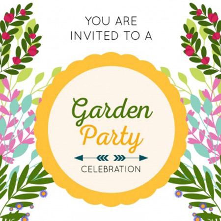 Elegáns meghívó kerti partira