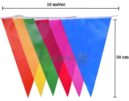 10 méteres zászlófüzér