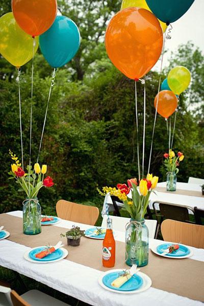 Dekoráció kerti partihoz