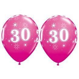 30-as Sparkle-A-Round Vadmálna Rózsaszín Szülinapi Latex Lufi