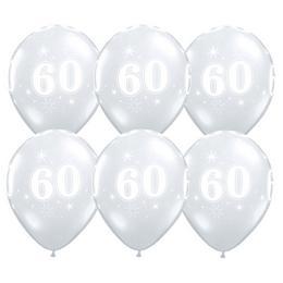 11 inch-es 60-as Sparkle-A-Round Diamond Clear Szülinapi Lufi (25 db/csomag)