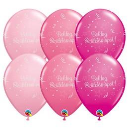 11 inch-es Boldog Születésnapot Shining Star II Lufi Lányos Színekben (25 db/csomag)