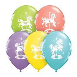 11 inch-es Carousel Horses Sorbet Assortment Lufi (25 db/csomag)