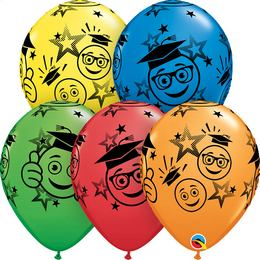11 inch-es Graduation Smileys Special Assortment Ballagási Lufi (6 db/csomag)