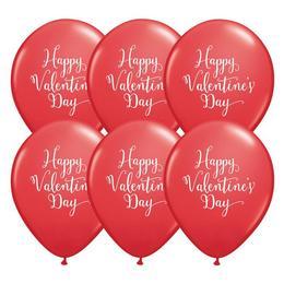11 inch-es Happy Valentine's Day Script Red Szerelmes Lufi (25 db/csomag)