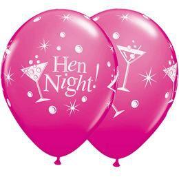 11 inch-es Hen Night Bubbly Lufi (6 db/csomag)