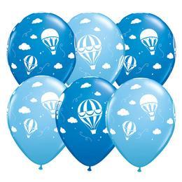11 inch-es Hot Air Balloons - Léghajó Dark Blue & Pale Blue Lufi Babaszületésre (25 d