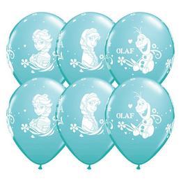 Jégvarázs - Frozen Anna, Elsa, Olaf Carribean Blue Lufi (6 db/csomag)