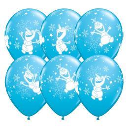 11 inch-es Jégvarázs - Olaf Dancing Robins Egg Blue Lufi (25 db/csomag)