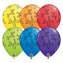 11 inch-es Lufikutya Mintás - Balloon Dogs Carnival Assortment Lufi (25 db/csomag)
