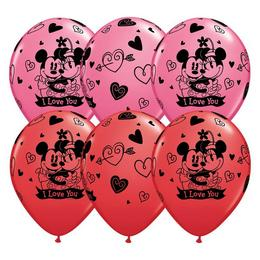 11 inch-es Mickey & Minnie I Love You Szerelmes Gumi Lufi