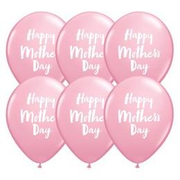 Anyák Napi Feliratú Pink Színű Gumi Lufi, 6 db, 28 cm