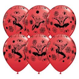 11 inch-es Pókember - Marvel's Spiderman Red Lufi (6 db/csomag)