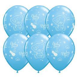 11 inch-es Tiny Tatty Teddy Baby Boy Pale Blue Lufi (25 db/csomag)