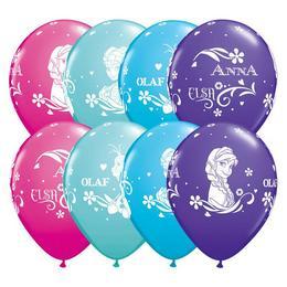 11 inch-es Jégvarázs - Anna, Elsa és Olaf Asst. Lufi (25 db/csomag)
