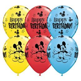 11 inch-es Mickey Mouse Birthday Asst. Szülinapi Lufi (25 db/csomag)
