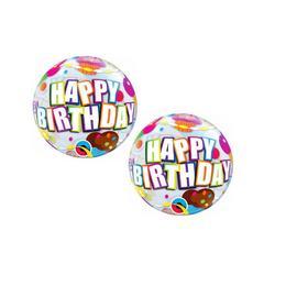 12 inch-es Birthday Cupcake Szülinapi Air - Levegős Bubbles Lufi