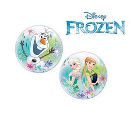 Jégvarázs - Disney Frozen Levegős Buborék Lufi Pálcán, 30 cm