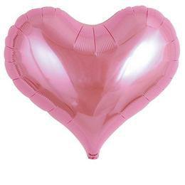 Ibrex 14 inch-es Jelly Metallic Pink Szív Héliumos Fólia Lufi
