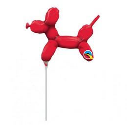 14 inch-es Piros Lufikutya - Balloon Dog Red Fólia Lufi (5 db/csomag)