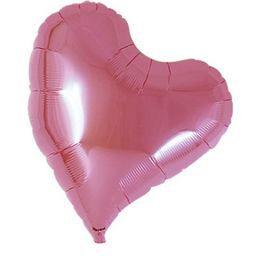 Ibrex 14 inch-es Sweet Metallic Pink Szív Héliumos Fólia Lufi