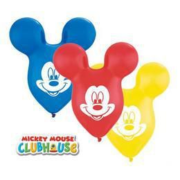 15 inch-es Mickey Mouse Face - Mikiegér Arc Special Assortment Léggömb (25 db/csomag)