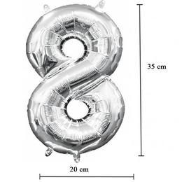 16 inch-es 8 - Ezüst Számos Mini Shape Fólia Lufi