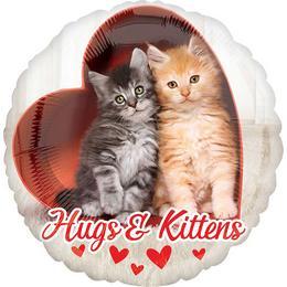 17 inch-es Avanti Hug & Kittens Cica Szíves Fólia Lufi