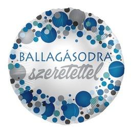 Ballagásodra Szeretettel Kék Pasztell Konfettis Héliumos Fólia Lufi