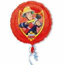Fireman Sam - Tűzoltó Héliumos Fólia Lufi, 46 cm