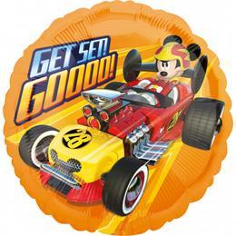 17 inch-es Mikiegér - Mickey Mouse Roadster Get Set Go Fólia Lufi