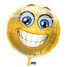 17 inch-es Mosolygós - Smile Emoji Héliumos Fólia Lufi - 43 cm