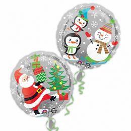 17 inch-es Santa, Snowman & Penguins Karácsonyi Fólia Lufi