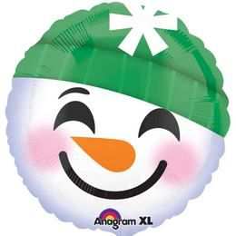 17 inch-es Snowman Emoji Karácsonyi Fólia Lufi