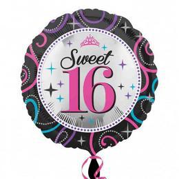 17 inch-es Sweet 16 Sparkle Szülinapi Számos Fólia Lufi