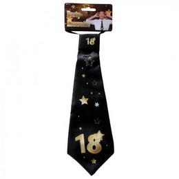 18. Szülinapi Számos Arany Fekete Csillagos Nyakkendő