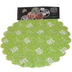 18-as Lime Zöld Szülinapi Kerek Dekorációs Textil - 48 cm-es, 24 db-os