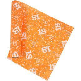 18-as Narancssárga Szülinapi Asztali Futó, 37 cm-es, 5 méter