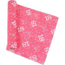 18-as Pink Szülinapi Asztali Futó, 37 cm-es, 5 méter