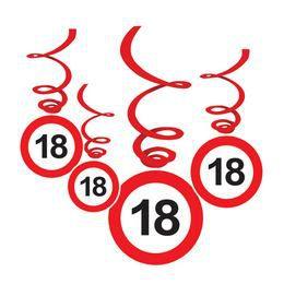 18-as Sebességkorlátozó Születésnapi Függődekoráció - 6 db-os