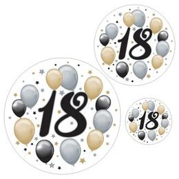 18-as Számos Szülinapi Elegáns Matrica Csomag