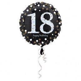 18 inch-es 18-as Happy Birthday Sparkling Születésnapi Héliumos Fólia Lufi