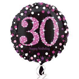18 inch-es 30-as Happy Birthday Pink Celebration Prismatic Szülinapi Fólia Lufi