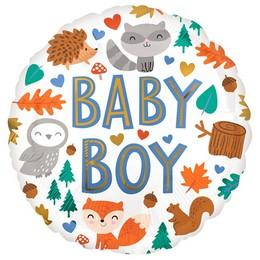 Baby Boy Erdő Állatai Héliumos Fólia Lufi, 46 cm