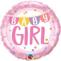 Kislány Babaszületésre - Baby Girl Héliumos Fólia Lufi, 46 cm