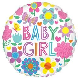 Baby Girl Pillangós Héliumos Fólia Lufi, 46 cm