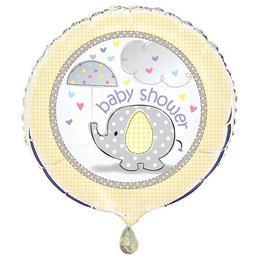 18 inch-es Baby Shower - Bébielefánt Mintás Babaszületésre Fólia Lufi