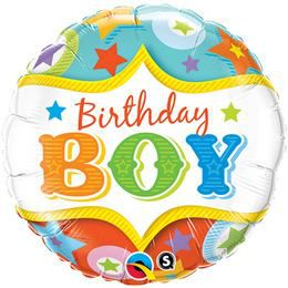 18 inch-es Birthday Boy Circus Stars - Cirkuszi Csillagok Szülinapi Fólia Lufi